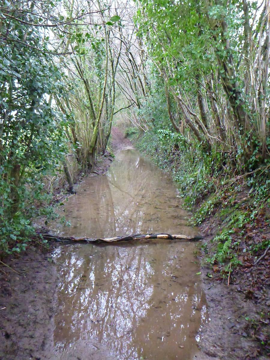 Le temps était tellement pluvieux que certain tronçon de chemains se confondais avec des rivieres.Par moments il n'y avait pas d'autre solution que de marcher dans l'eau sur plusieurs mètres ...