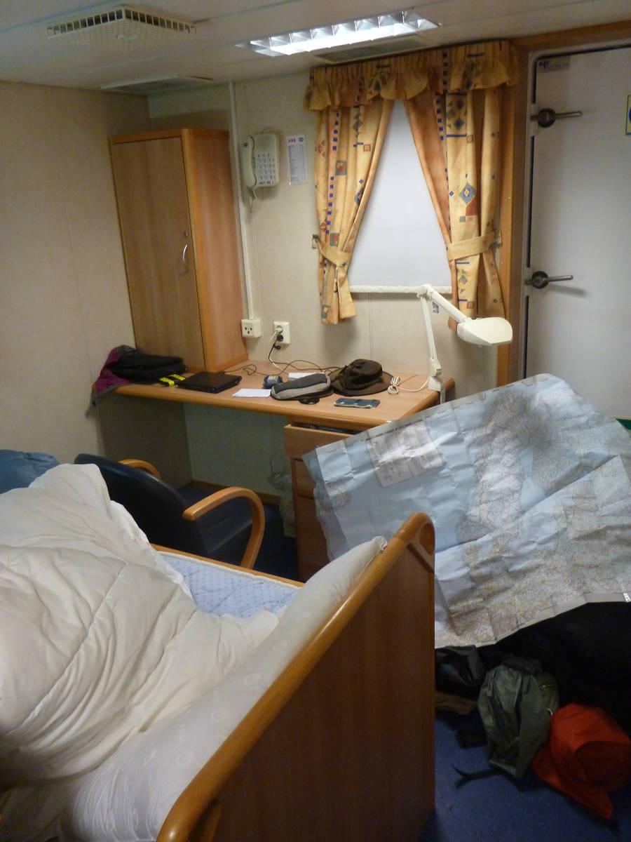 Notre cabine (un peu en désordre)