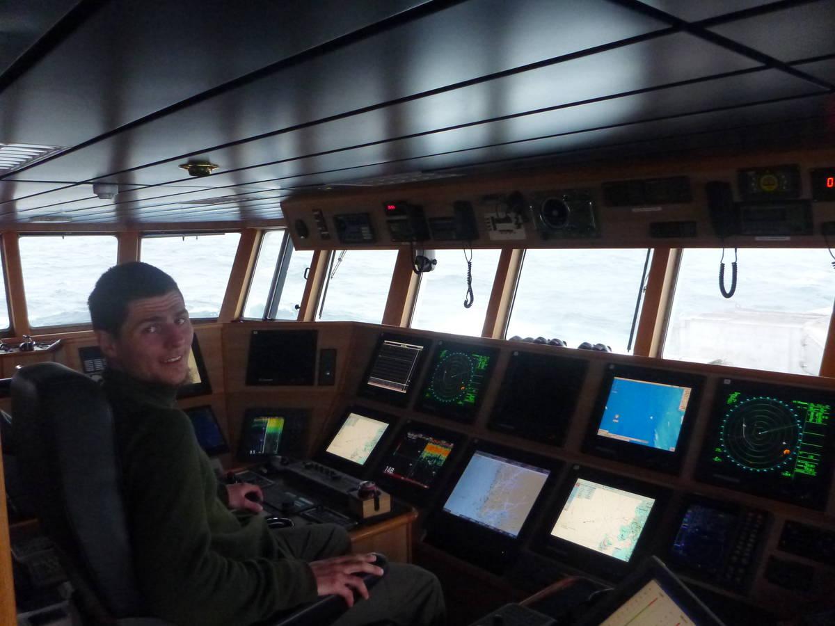 Aux commandes du vaisseau
