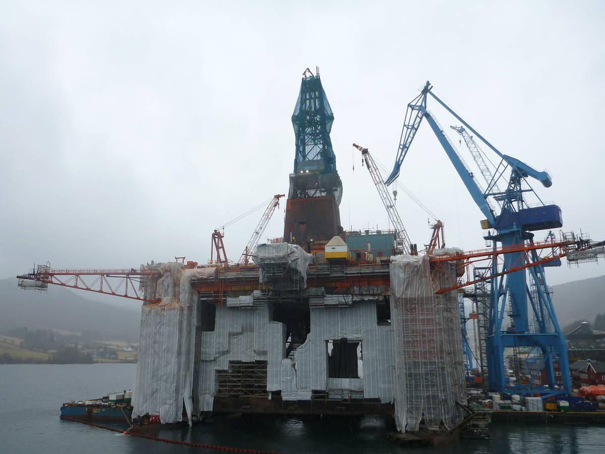 Une foi arriver à Ølen, au milieu d'une plateforme pétrolière à quelques kilomètres du village