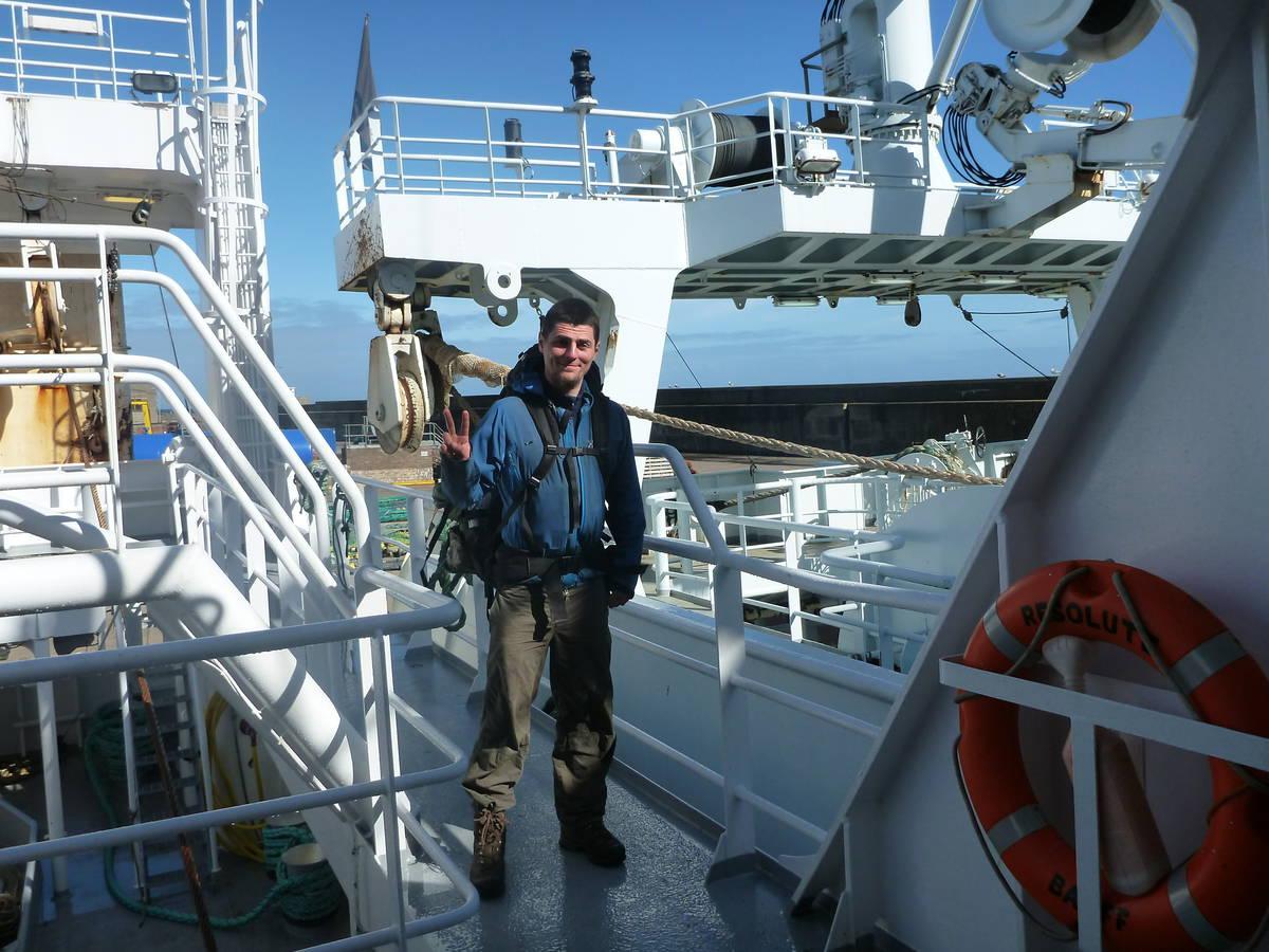 Visite d'un bateau de pêcheurs