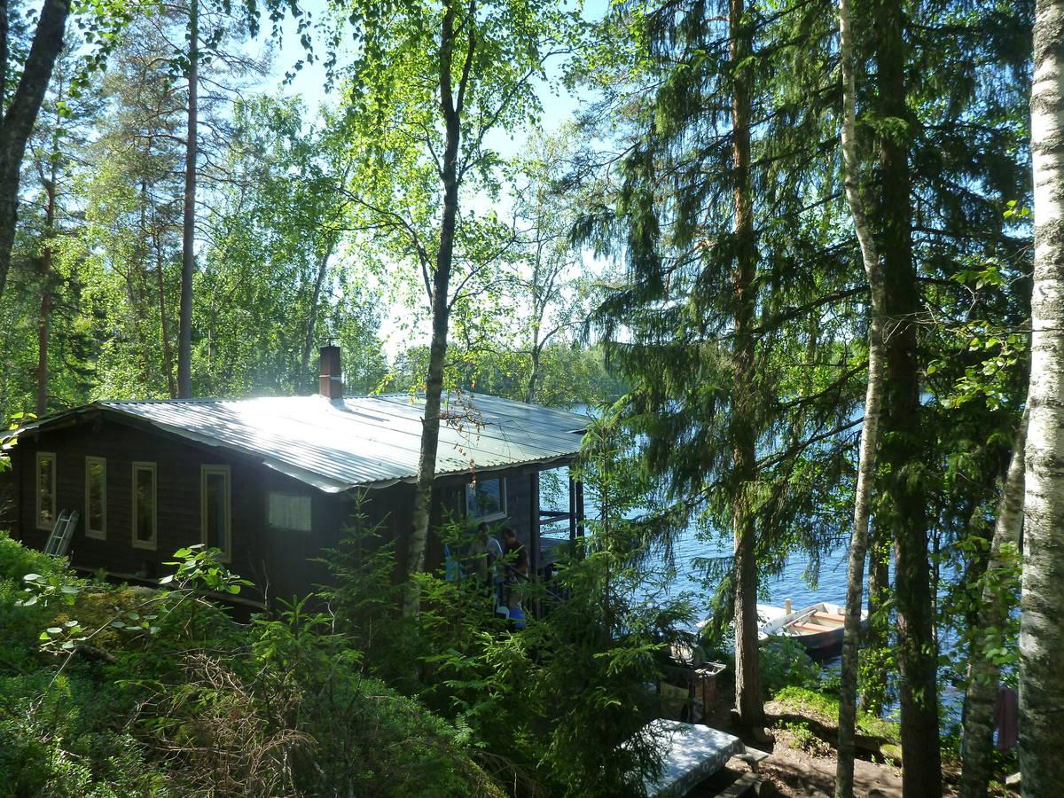 Le beau cottage sur leur île