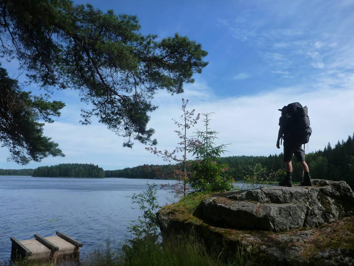Baignade quotidienne dans de grands lacs