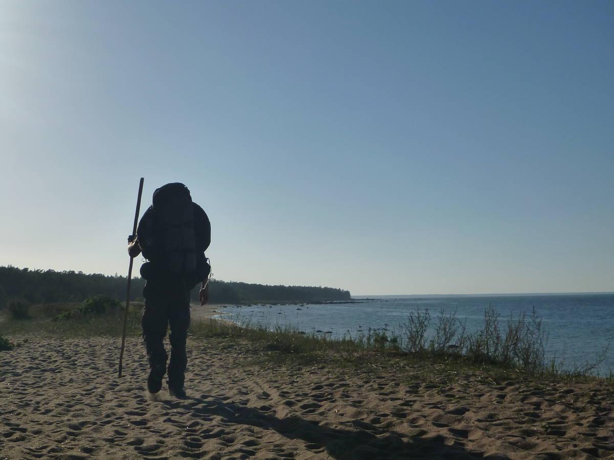 Marche le long des plages