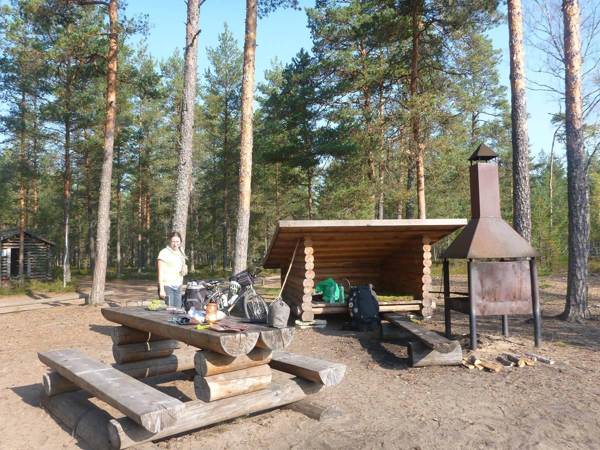 Un exemple de zone de camping présent sur la randonnée