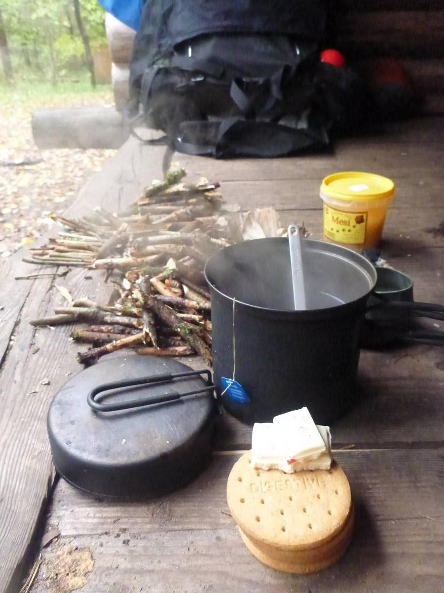 Pti déj du matin dans le froid