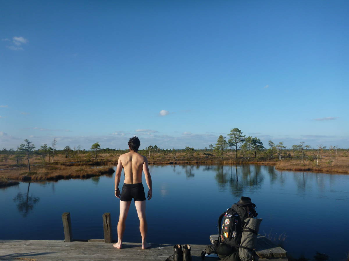 Et baignade dans les petits lacs (c'est froid)