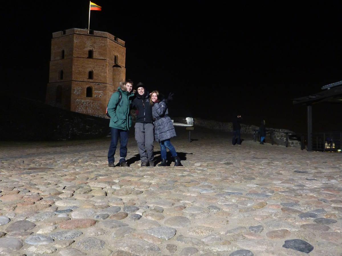 Sortie dans Vilnius le soir avec Donatas et Lina