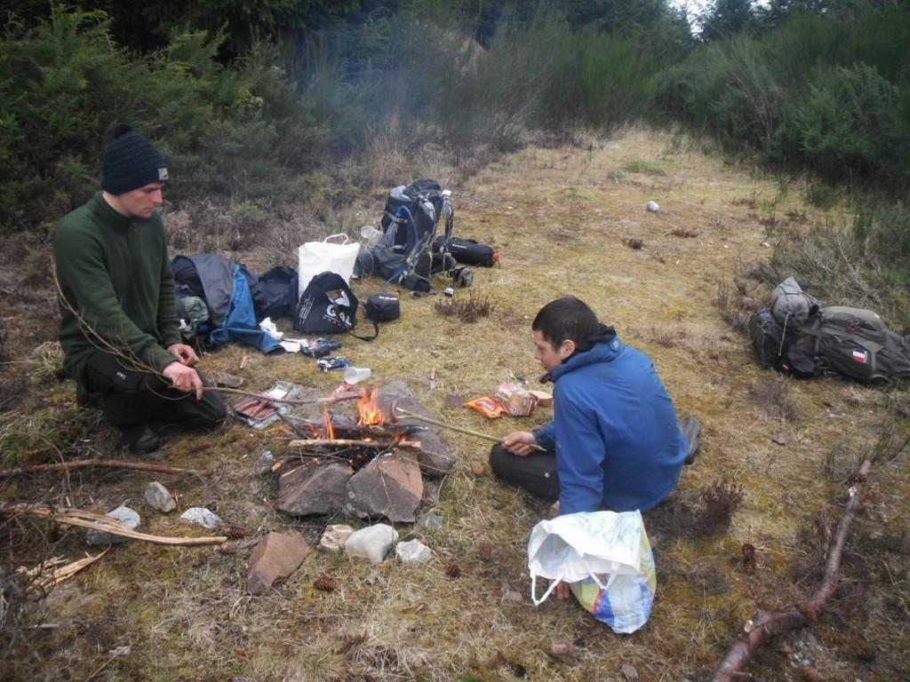 Saucisses au feu