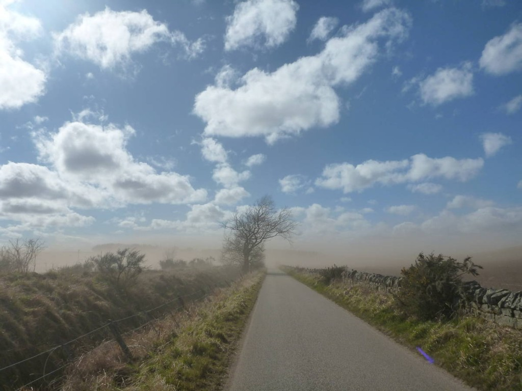 Des petites tempêtes de sables