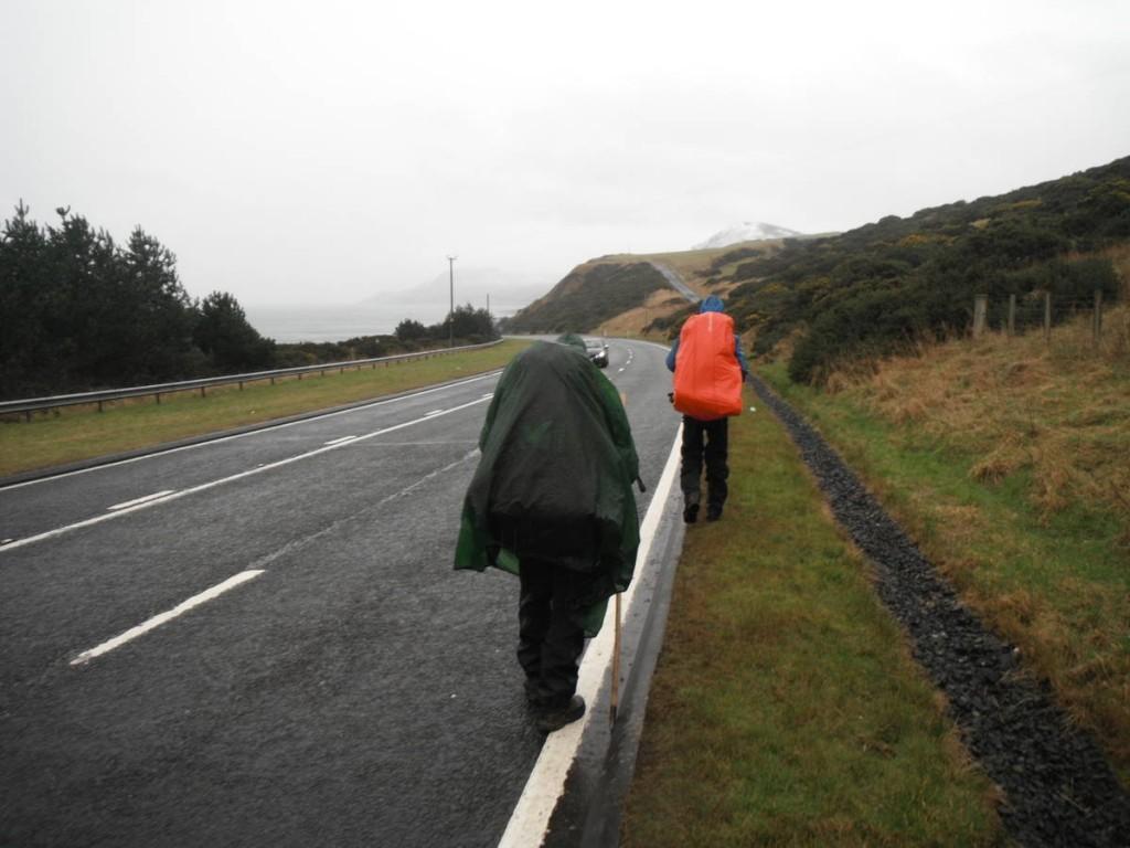 Par moment nous sommes obligés de prendre de grosses et pénibles routes