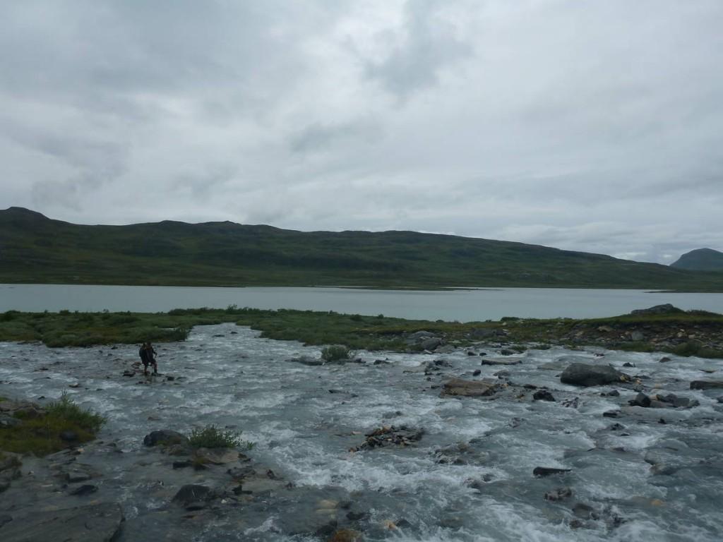 Nous somme obligés de traverser de grands passages de rivières avec un fort courant
