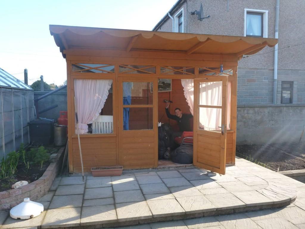 Un écossais nous héberge dans sa cabane de jardin plus de quatre jours