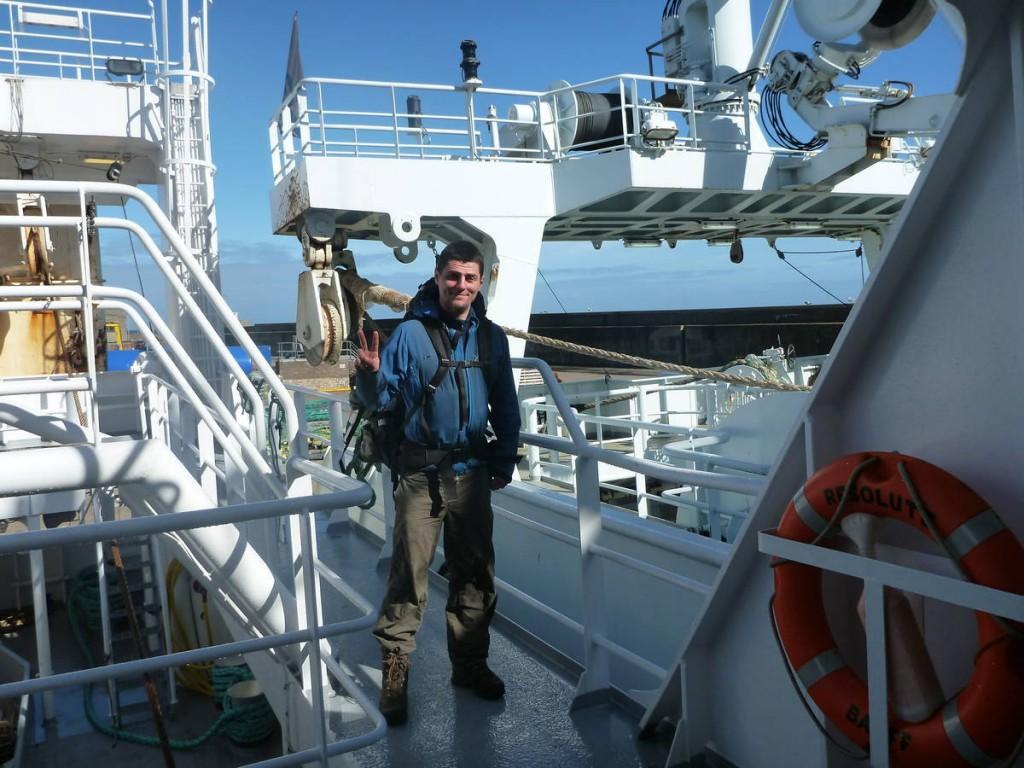 Et enfin un capitaine accepte de nous embarquer avec lui pour la Norvège.