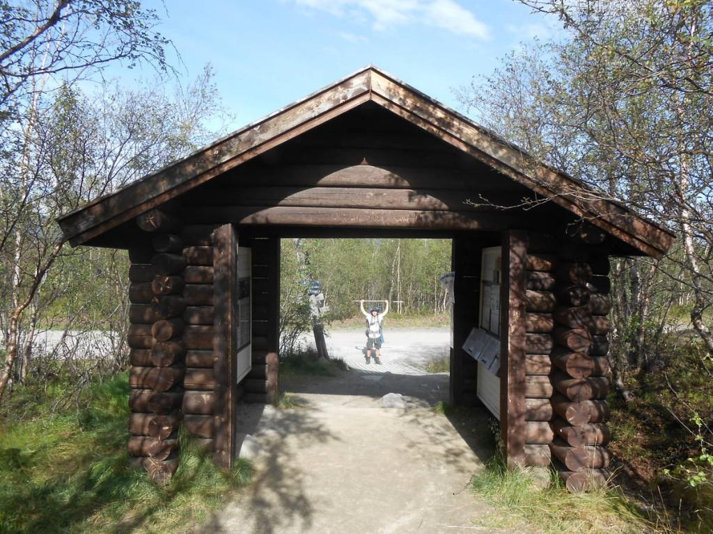 Et nous arrivons à la fin de la Kungsleden dans le village de Abisko