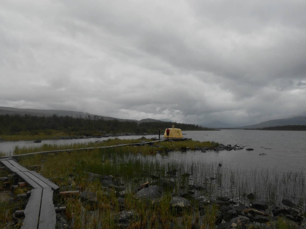 Un endroit assez intéressant en ce petit îlot : Le point de jonction des frontières Finlandaises, Norvègiennes et Suédoises