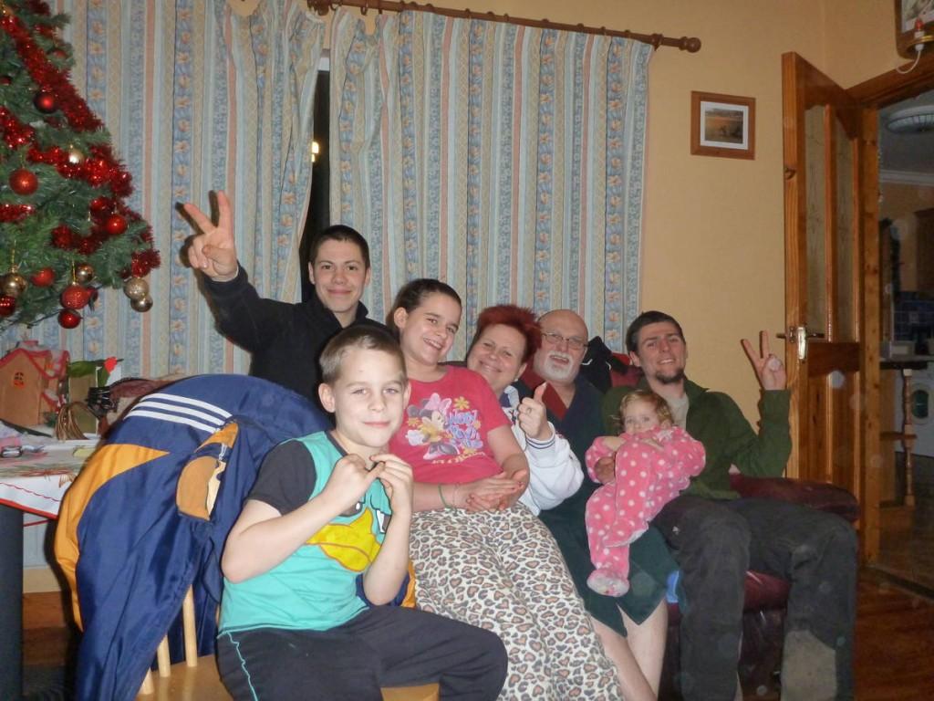 Une famille d'hongrois nous accueillent d'une façon formidable