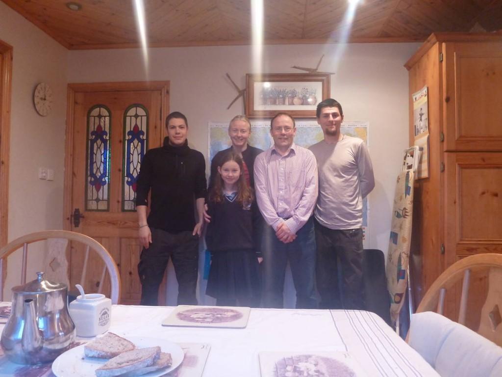 Encore un magnifique accueil de la part de cette famille d'irlandais