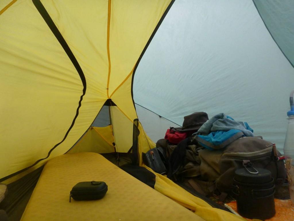 L'intérieur de ma tente