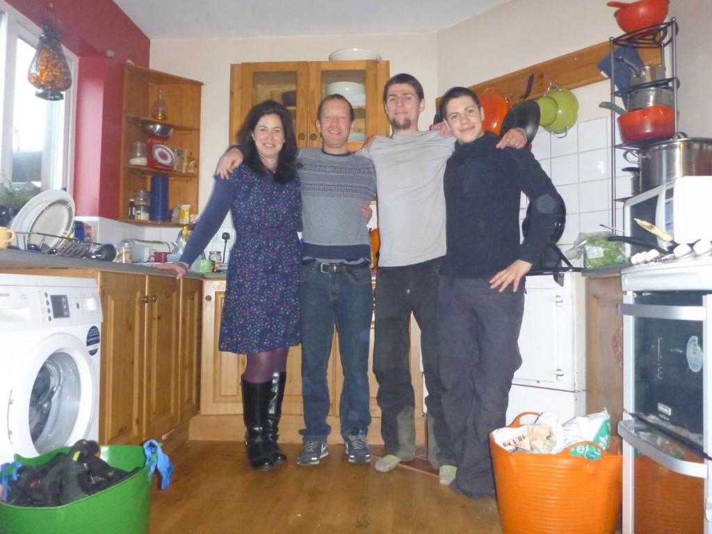 Paul et Isabelle, qui nous hébergent à Galways et nous donne le contact de l'un de leur ami vivant sur une île dans le connemara