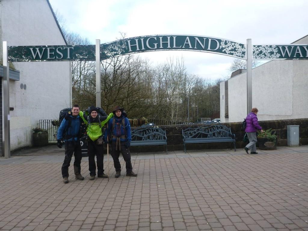 Et c'est partit pour une semaine de marche à travers les montagnes sur la west highland way