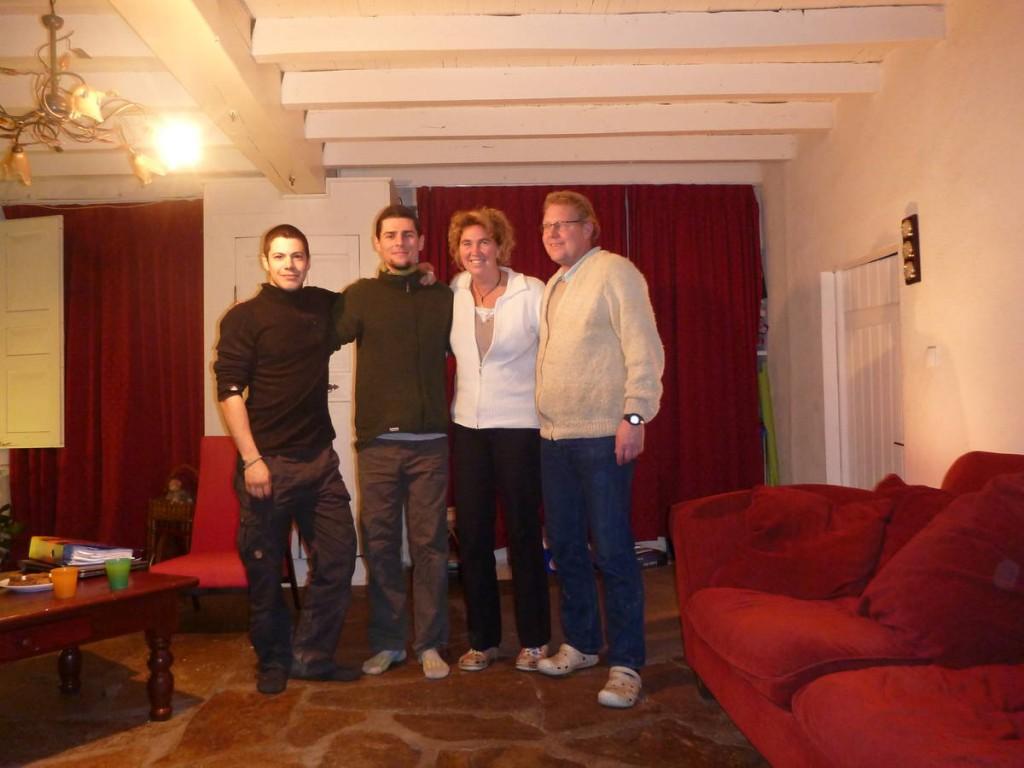 Famille d'hollandais nous ayant hébergé pour la nuit