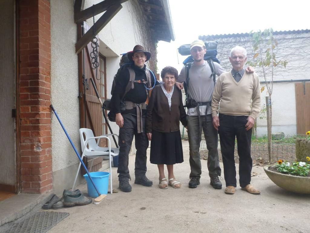 Visite surprise aux grands parents de François trois jours plus tard