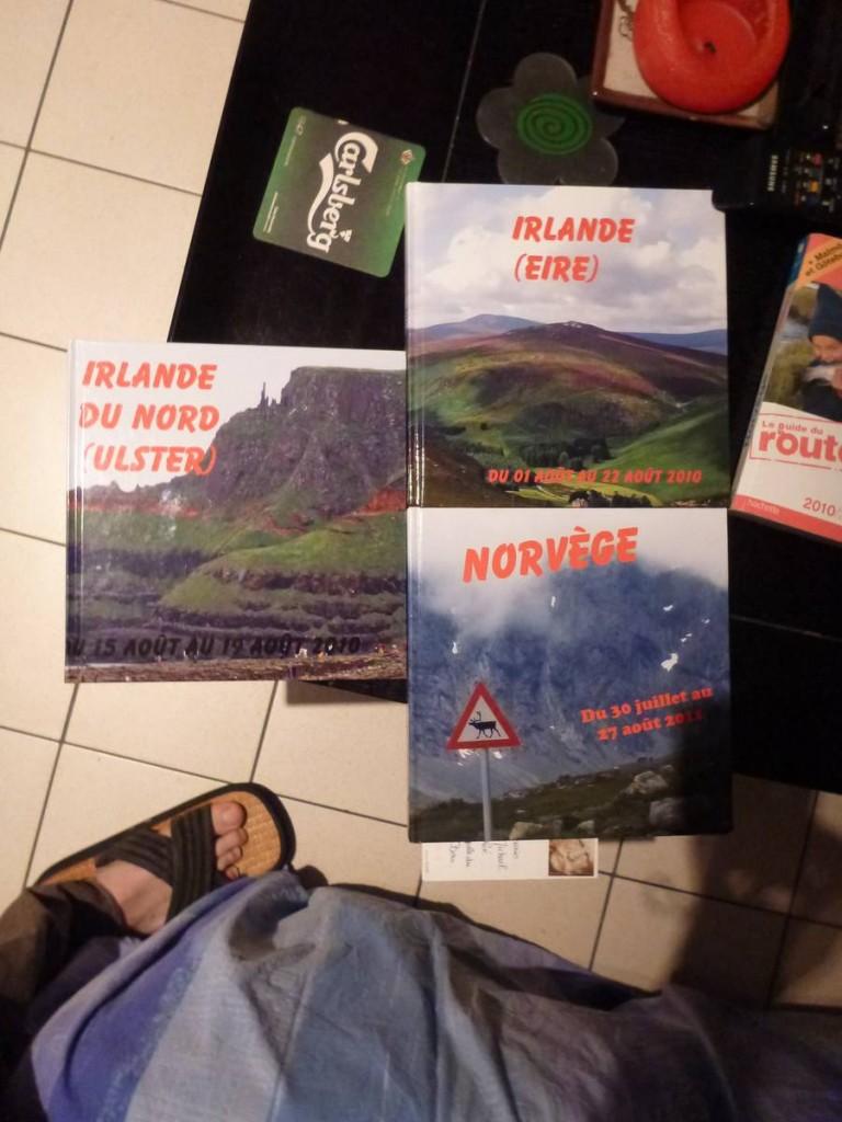 Un beau hasard au niveau des conseils; Ils ont fait plusieurs voyages en Irlande et Norvège (les prochains pays de l'itinéraire)