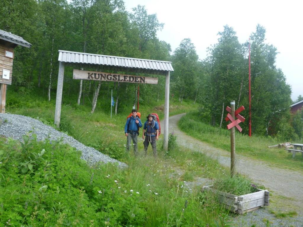Le début de la Kungsleden, un chemin de randonnée de suède de près de 500 kilomètres passant à travers la Laponie