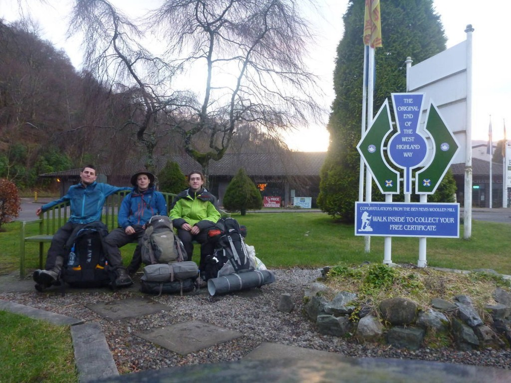 La fin de la west highland way dans le beau village de Fort William