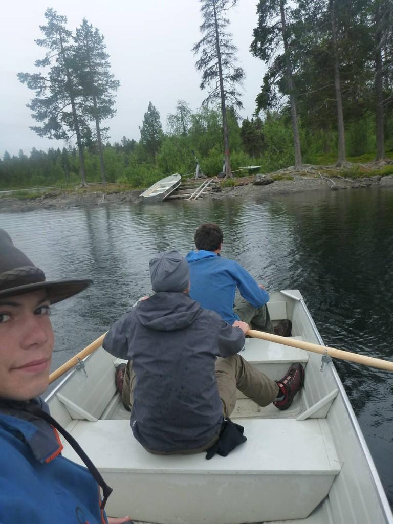 Première traversée en barque