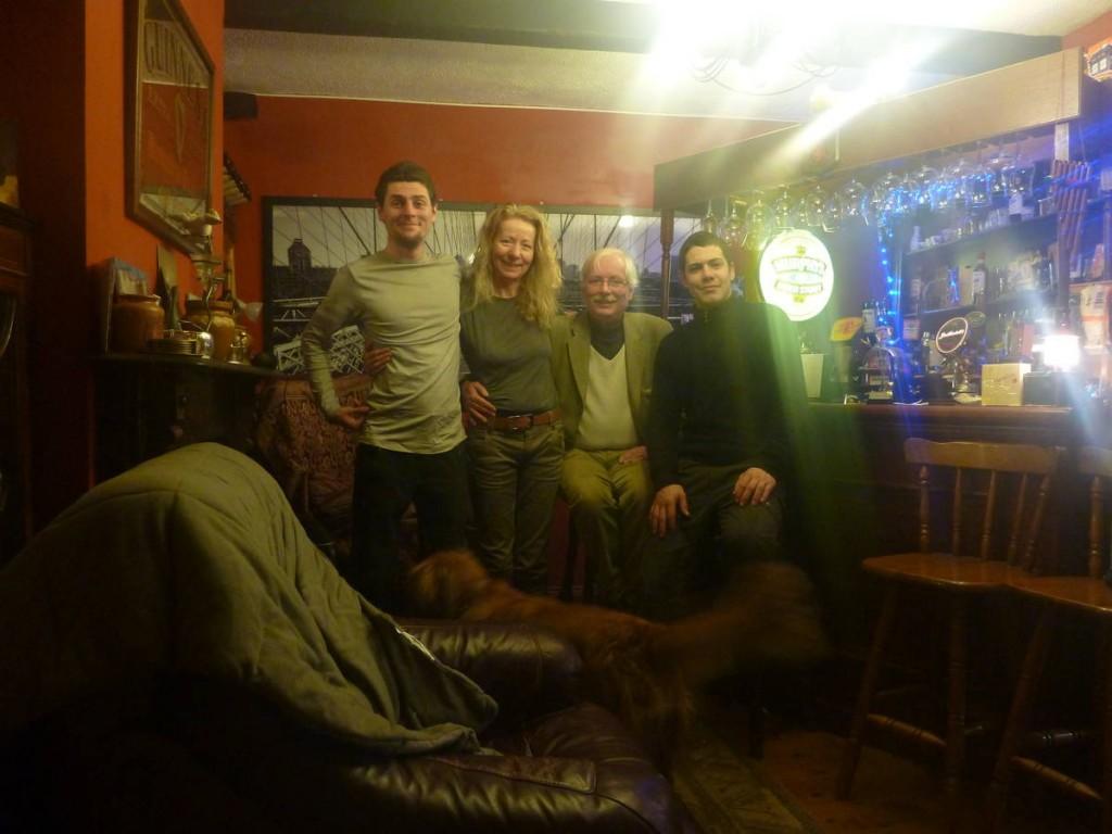 Une famille d'artistes nous ayant logé dans leur grand manoir