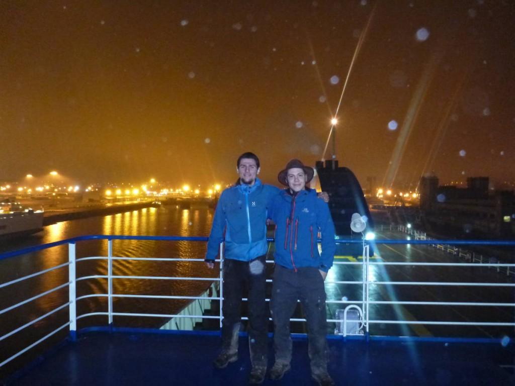 Notre ferry démarre, Irlande nous voilà !