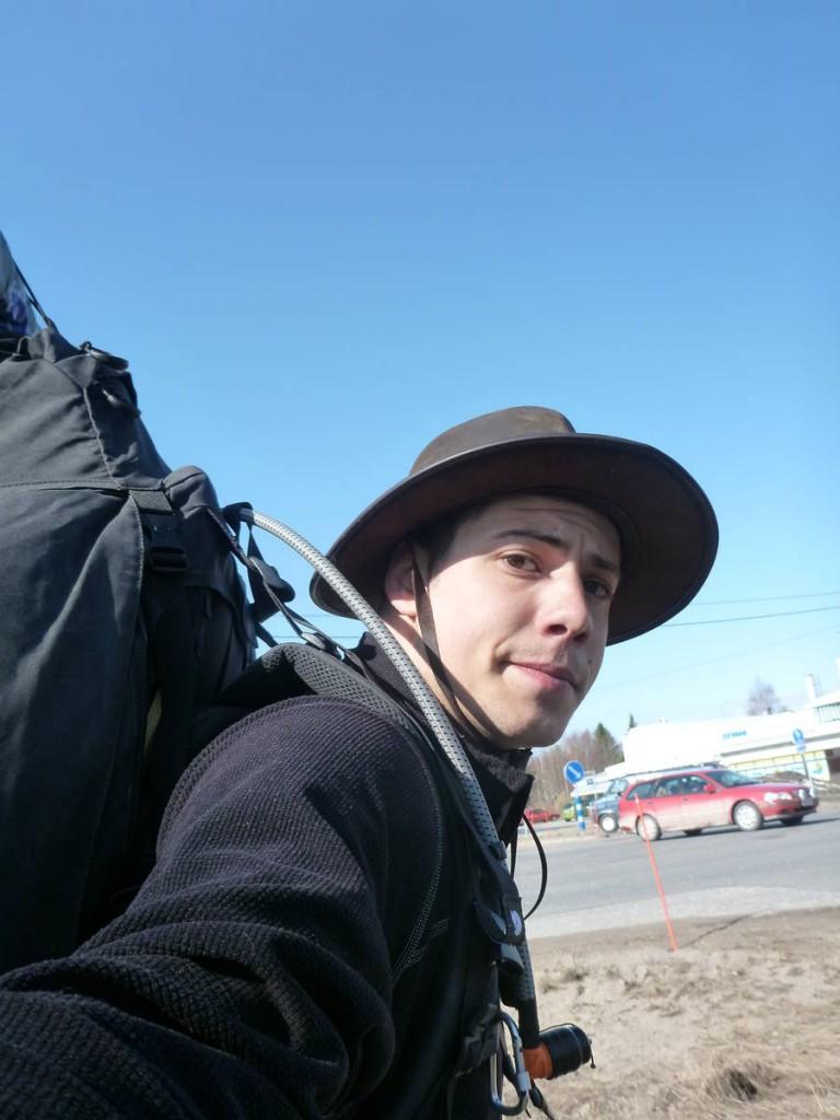 Arrivé à Tornio en Finlande, à l'endroit où j'avais interrompus ma marche huit mois auparavant
