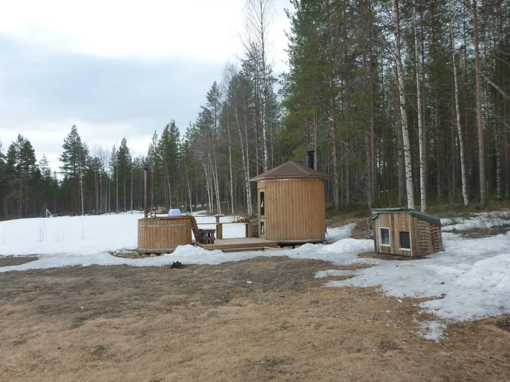 Nous prenons le sauna le soir
