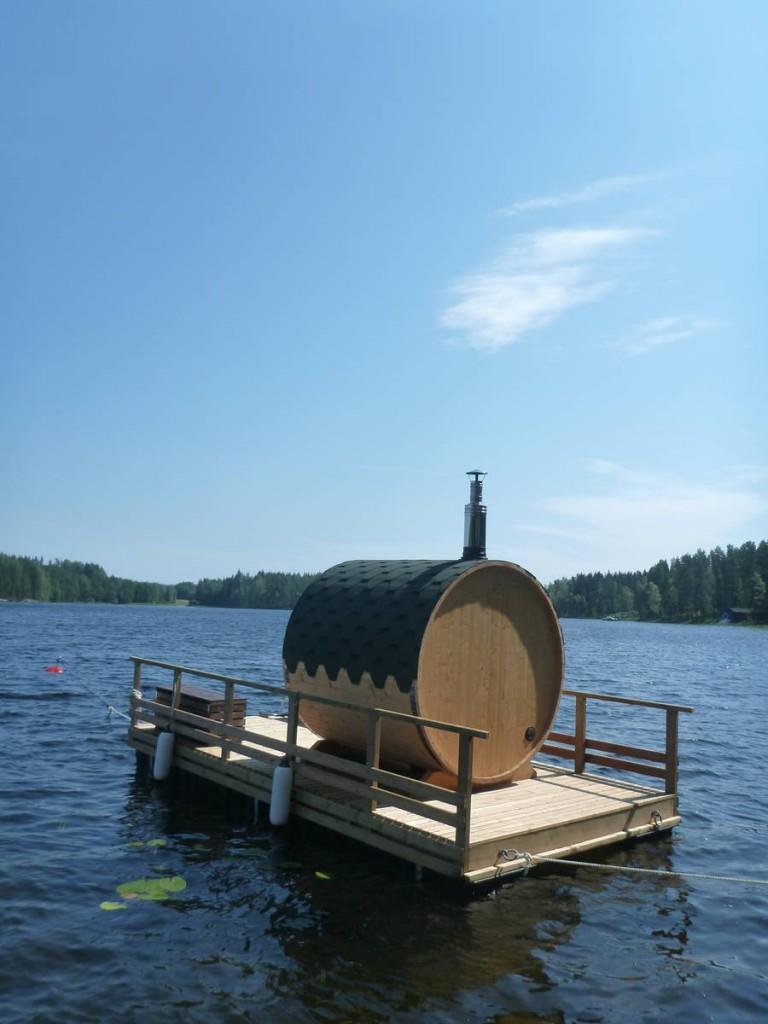 Un sauna sur l'eau !