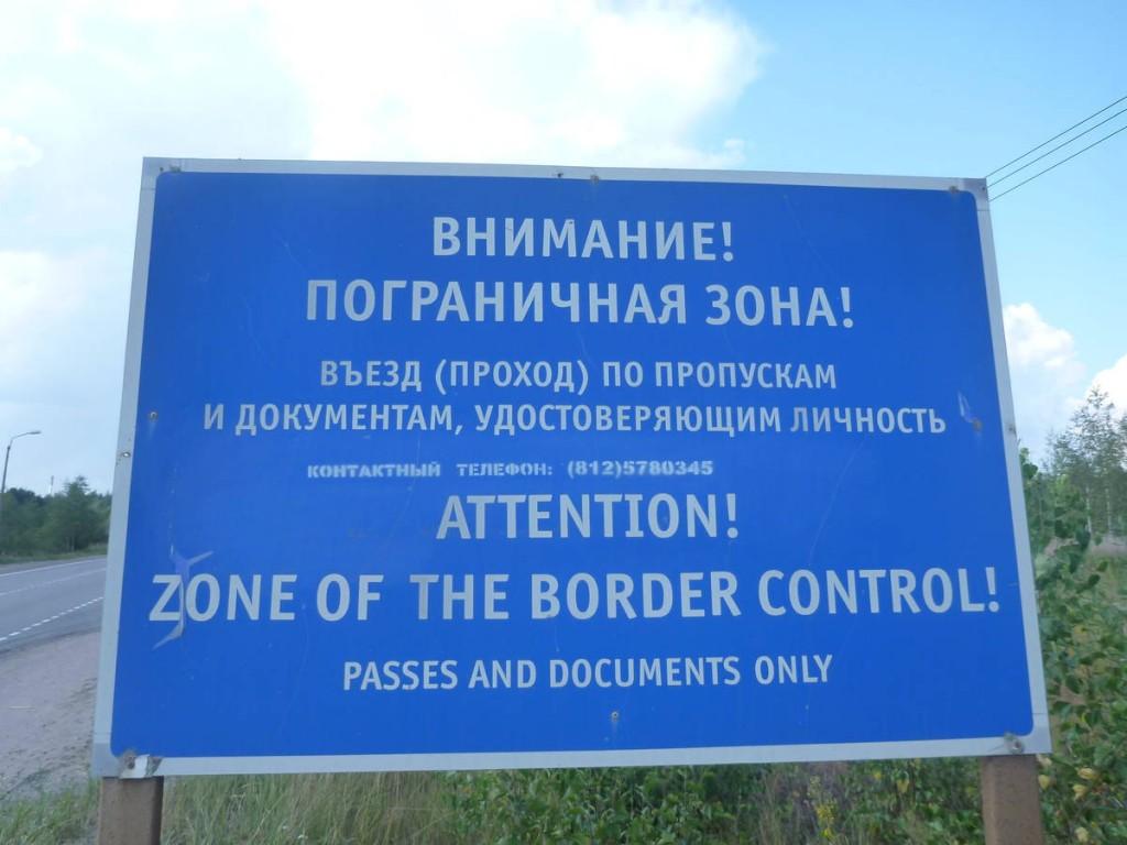 Impossible de passer à pied entre les deux frontières (finlandaise et russe); Je dois donc faire du stop pour 500 mètres !