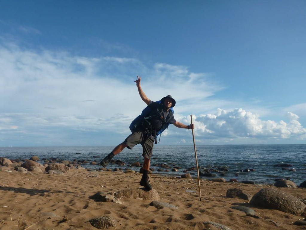 Et j'arrive à la mer Baltique; Je suis émue car c'est la première fois que je la voyais