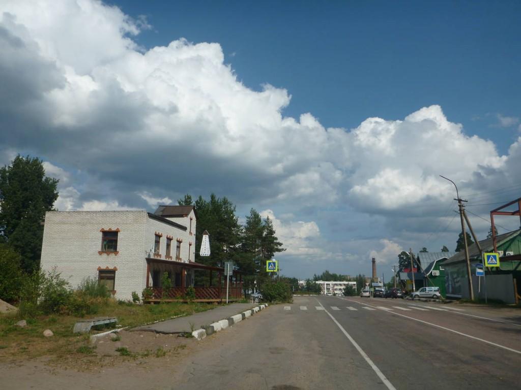 Enfin j'arrive à Svetlogorsk, mon premier village russe