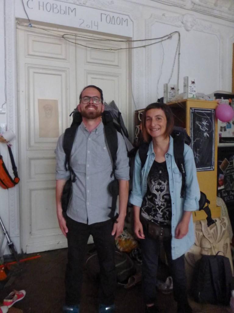 Deux voyageurs français faisant la route du transibérien