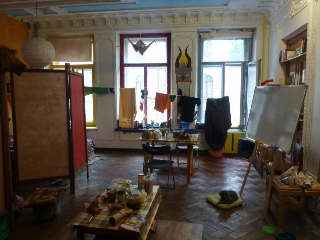 Kommounalka d'artiste où Sveta et Evgenii m'ont hébergé pendant six jours