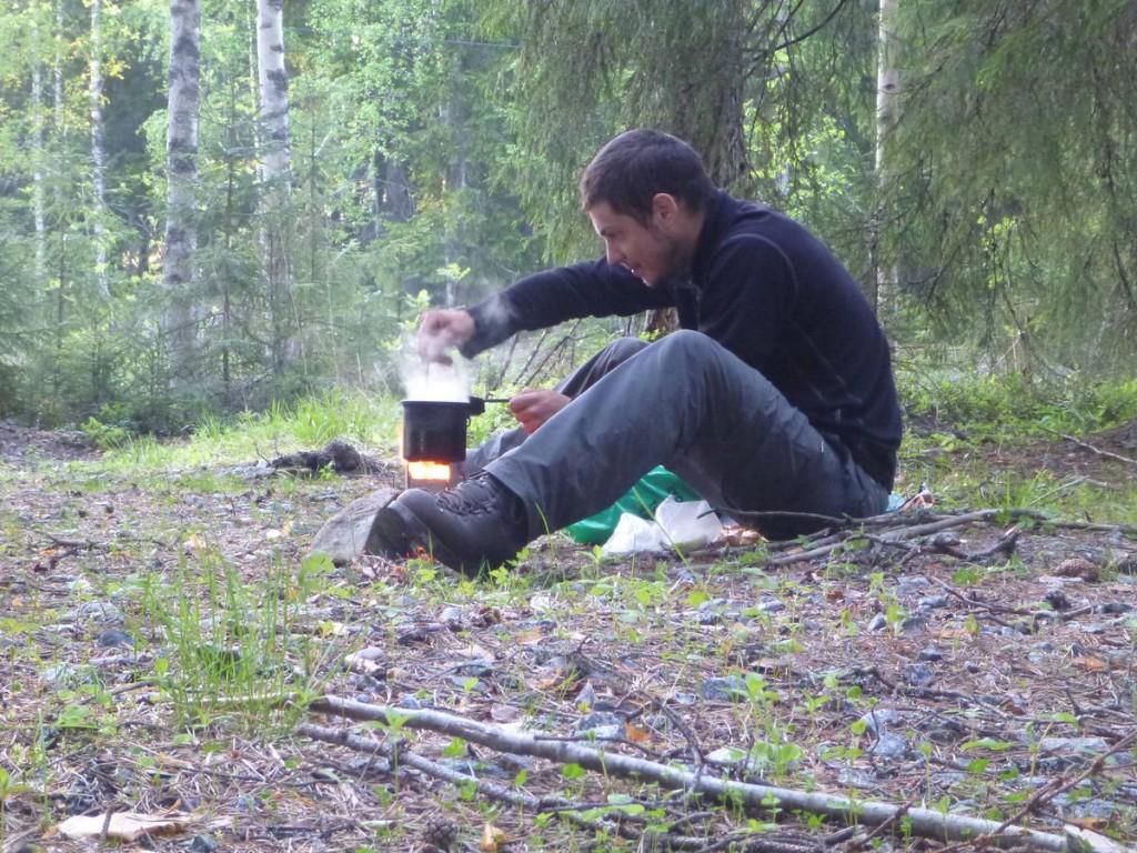 La tambouille au réchaud à bois