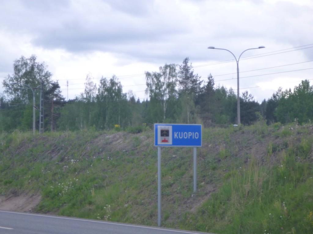 J'arrive à Kuopio