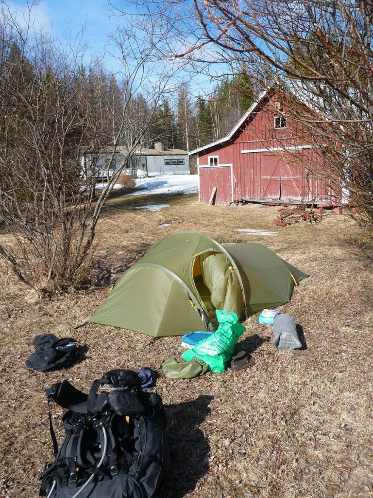 L'avantage c'est que je peux planter ma tente un peu où je le désire !