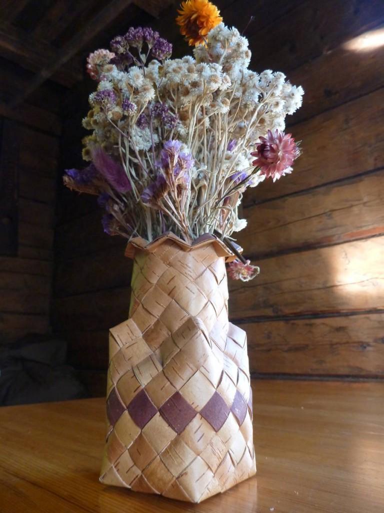 L'écorce de bouleau est très utilisé afin de réaliser toute sortes de choses magnifiques