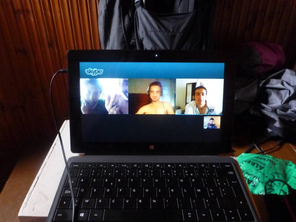 Un skype avec mes amis de France