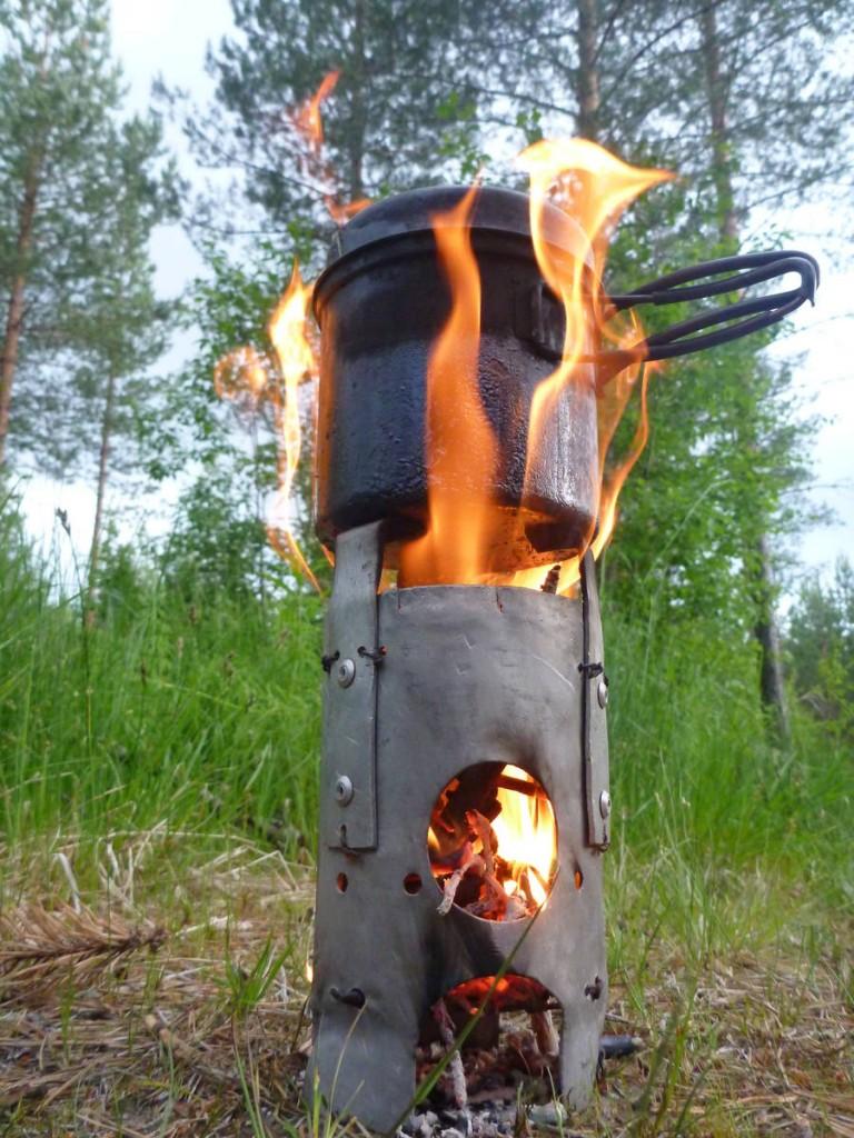 Mon beau réchaud à bois
