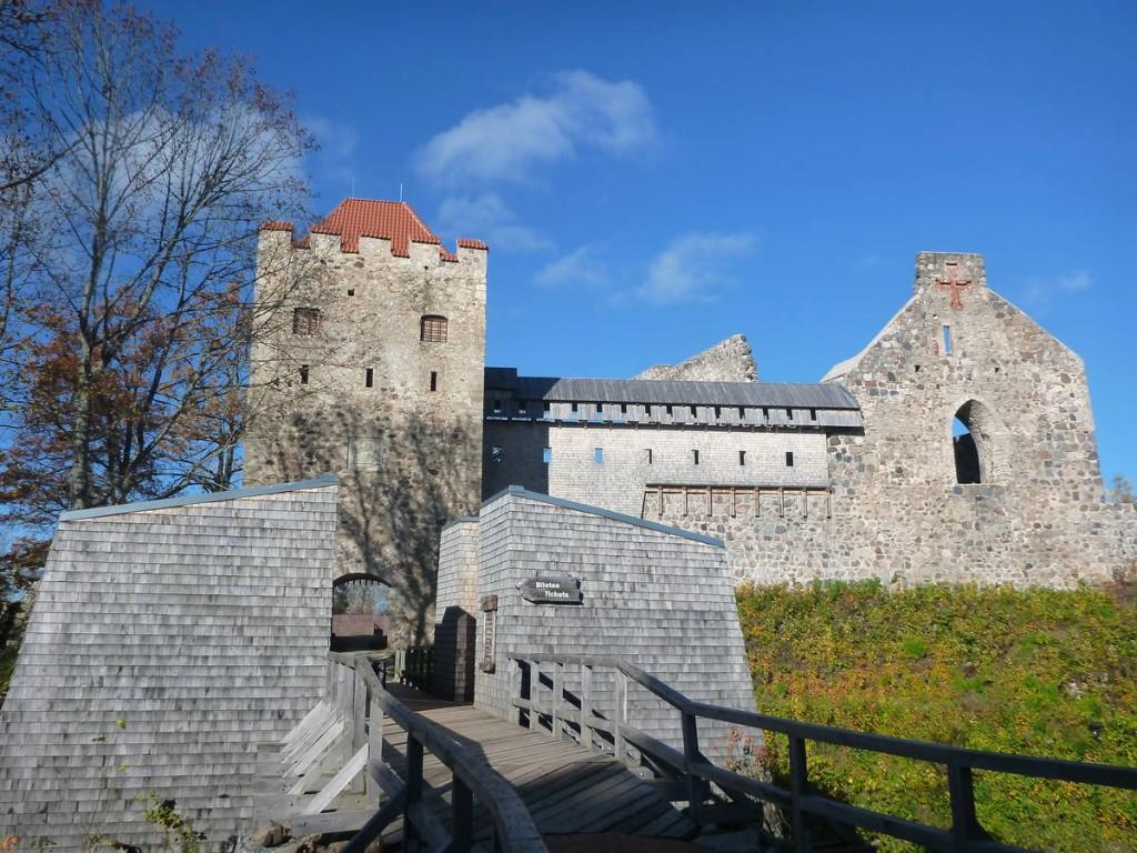 Je visite ce très beau château