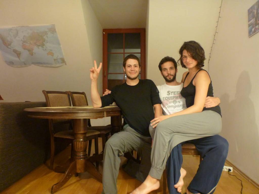Xavier et Valeria m'hébergent pendant quelques jours dans leur jolie appartement