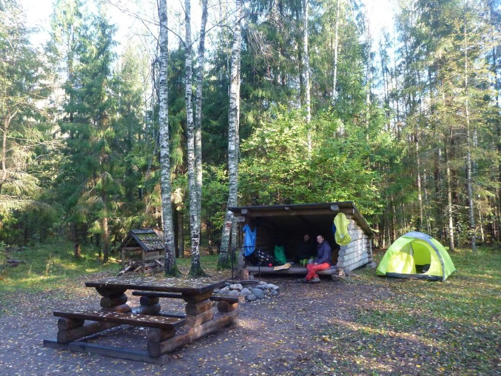 Campement avec un couple d'allemands